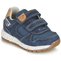 Zapatos Niño Zapatillas bajas Geox ALBEN BOY Azul / Marrón