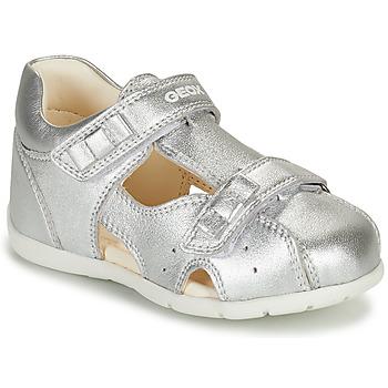 Zapatos Niña Sandalias Geox KAYTAN Plata