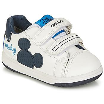 Zapatos Niño Zapatillas bajas Geox NEW FLICK BOY Blanco / Azul