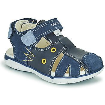 Zapatos Niño Sandalias Geox SANDAL DELHI BOY Marino