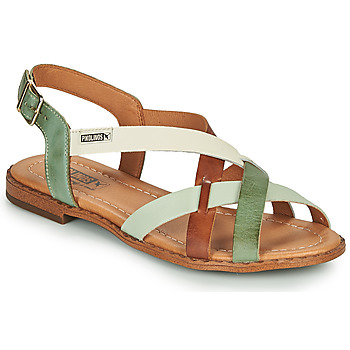 Zapatos Mujer Sandalias Pikolinos ALGAR W0X Marrón / Verde