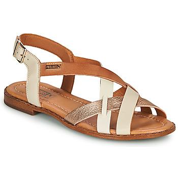 Zapatos Mujer Sandalias Pikolinos ALGAR W0X Blanco / Rosa / Oro