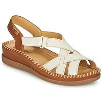 Zapatos Mujer Sandalias Pikolinos CADAQUES W8K Blanco / Marrón