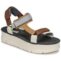 Zapatos Mujer Sandalias Camper ORUGA UP Marrón / Gris
