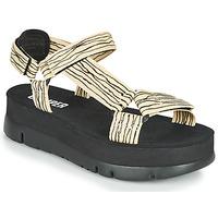 Zapatos Mujer Sandalias Camper ORUGA UP Negro / Beige