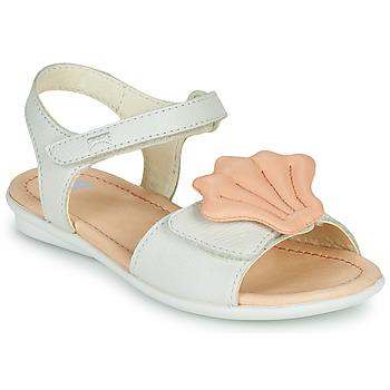 Zapatos Niña Sandalias Camper TWINS Rosa / Blanco