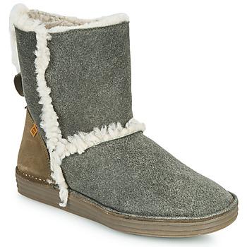 Zapatos Mujer Botas de caña baja El Naturalista LUX Gris / Kaki