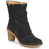 Zapatos Mujer Botines El Naturalista LUX Negro