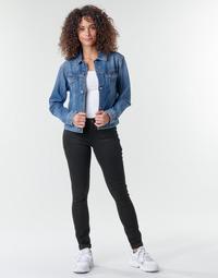 textil Mujer Vaqueros slim G-Star Raw Midge Zip Mid Skinny Wmn Pitch / Negro