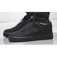 Zapatos Zapatillas altas Nike Stussy x Nike Air Force 1 Low Black/Black
