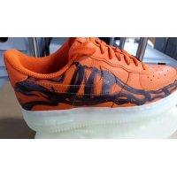 Zapatos Zapatillas altas Nike Air Force 1 Skeleton Brilliant Orange/Black/Brilliant Orange