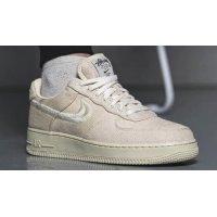 Zapatos Zapatillas altas Nike Stussy x Nike Air Force 1 Low Fossil Stone/Fossil Stone