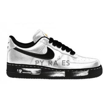 Zapatos Zapatillas altas Nike PEACEMINUSONE x Nike Air Force 1 ?Para-noise? White/Black-White