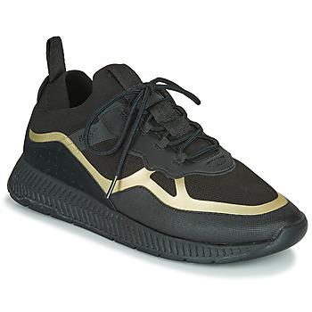 Zapatos Hombre Zapatillas bajas BOSS TITANIUM RUNN KNTH Negro / Oro