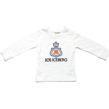 textil Niño Camisetas manga larga Iceberg TSICE0316B Blanco