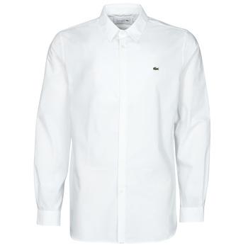 textil Hombre Camisas manga larga Lacoste PITTA Blanco