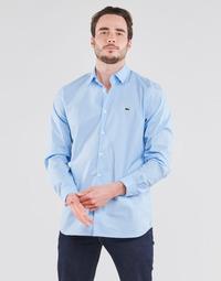 textil Hombre Camisas manga larga Lacoste PITTA Azul