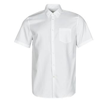 textil Hombre Camisas manga corta Lacoste FOLLA Blanco