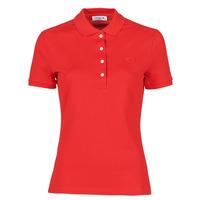 textil Mujer Polos manga corta Lacoste POLO SLIM FIT Rojo