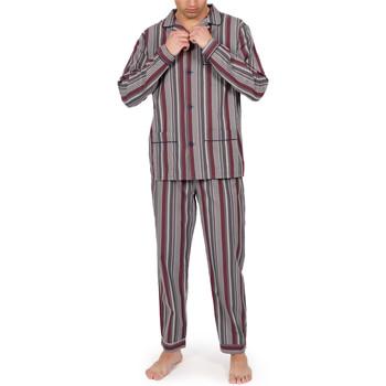 textil Hombre Pijama Admas For Men Pantalones de pijama hogar Granate Rayas grises Admas Gris Claro