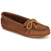 Zapatos Mujer Mocasín Minnetonka DEERSKIN KILTY Beige
