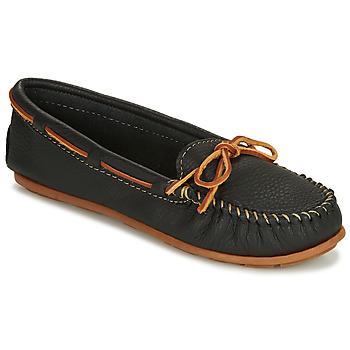 Zapatos Mujer Mocasín Minnetonka BOAT MOC Negro