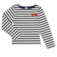 textil Niña Camisetas manga larga Petit Bateau MAHALIA Multicolor