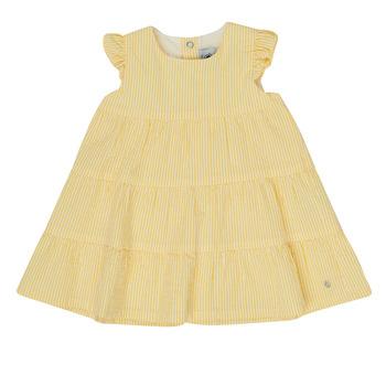 textil Niña Vestidos cortos Petit Bateau MERINGUE Amarillo