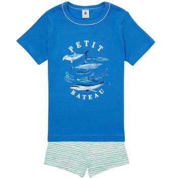 textil Niño Pijama Petit Bateau MAYONNAISE Multicolor