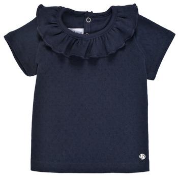 textil Niña Camisetas manga corta Petit Bateau MELISSA Marino