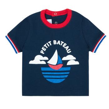 textil Niño Camisetas manga corta Petit Bateau MENU Marino