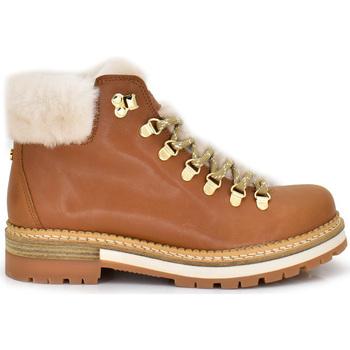 Zapatos Mujer Botas de caña baja Exé Shoes BOTINES CAMEL CON FORRO EXTERIOR 212K CAMEL