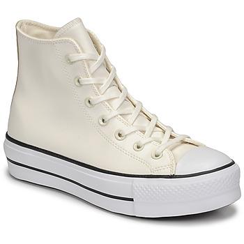 Zapatos Mujer Zapatillas altas Converse CHUCK TAYLOR ALL STAR LIFT ANODIZED METALS HI Blanco / Beige