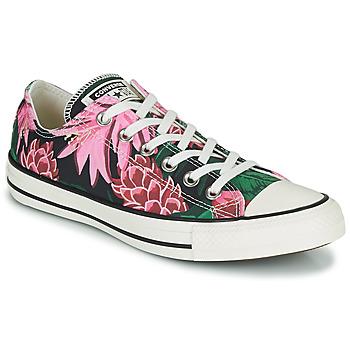Zapatos Mujer Zapatillas bajas Converse CHUCK TAYLOR ALL STAR JUNGLE SCENE OX Rosa / Verde