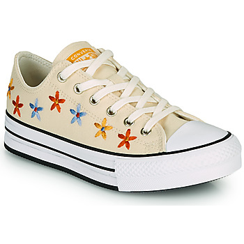 Zapatos Niña Zapatillas bajas Converse CHUCK TAYLOR ALL STAR EVA LIFT SPRING FLOWERS OX Blanco