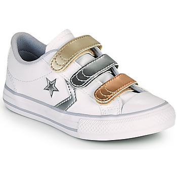 Zapatos Niña Zapatillas bajas Converse STAR PLAYER 3V METALLIC LEATHER OX Blanco