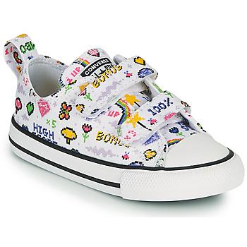 Zapatos Niña Zapatillas bajas Converse CHUCK TAYLOR ALL STAR 2V GIRLS GAMER OX Blanco / Multicolor