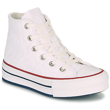 Zapatos Niña Zapatillas altas Converse CHUCK TAYLOR ALL STAR LIFT LOVE CEREMONY HI Blanco