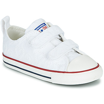 Zapatos Niña Zapatillas bajas Converse CHUCK TAYLOR ALL STAR 2V LOVE CEREMONY OX Blanco