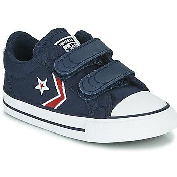 Zapatos Niño Zapatillas bajas Converse STAR PLAYER 2V TEXTILE DISTORT OX Azul / Rojo