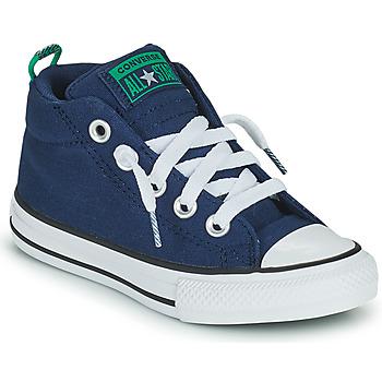 Zapatos Niño Zapatillas altas Converse CHUCK TAYLOR ALL STAR STREET CANVAS COLOR MID Azul