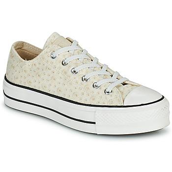 Zapatos Mujer Zapatillas bajas Converse CHUCK TAYLOR ALL STAR LIFT CANVAS BRODERIE OX Blanco