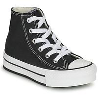 Zapatos Niña Zapatillas altas Converse CHUCK TAYLOR ALL STAR EVA LIFT CANVAS COLOR HI Negro