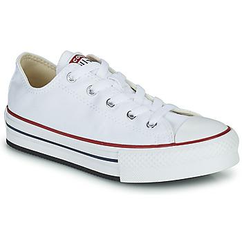 Zapatos Niña Zapatillas bajas Converse CHUCK TAYLOR ALL STAR EVA PLATFORM FOUNDATION OX Blanco