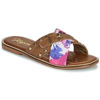 Zapatos Mujer Zuecos (Mules) Kaporal EMILI Marrón / Multicolor