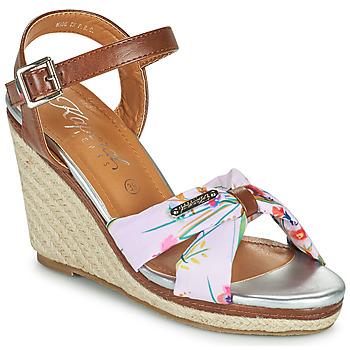 Zapatos Mujer Sandalias Kaporal MAKITA Marrón / Blanco