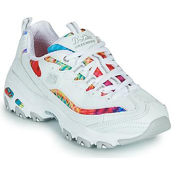 Zapatos Mujer Zapatillas bajas Skechers D'LITES SUMMER FIESTA Blanco / Multicolor
