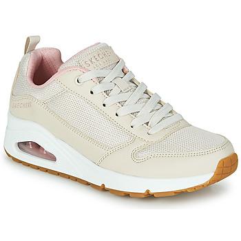Zapatos Mujer Zapatillas bajas Skechers UNO INSIDE MATTERS Beige / Rosa