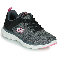 Zapatos Mujer Fitness / Training Skechers FLEX APPEAL 4.0 Gris / Rosa