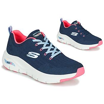 Zapatos Mujer Zapatillas bajas Skechers ARCH FIT Marino / Rosa